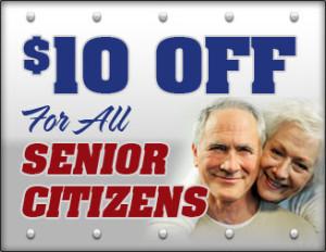 10% off senior Citizens